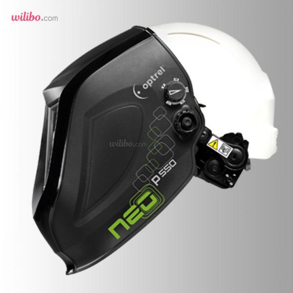 کلاه ماسک اتوماتیک Optrel مدل neo p550 hard hat