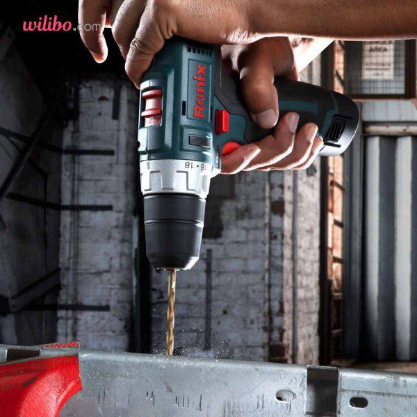 دریل پیچگوشتی شارژی 12 ولت رونیکس مدل 8612